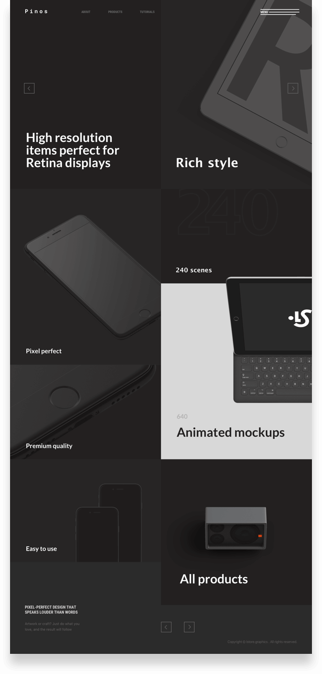Concept Library Of Website Templates Lstore Graphics