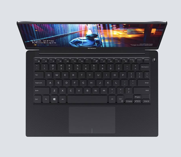 Dell XPS mockups in different materials